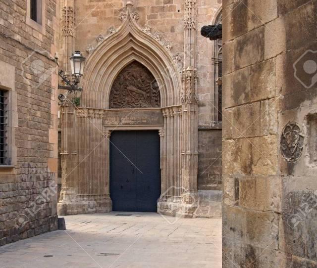 Barri Gotic Gothic Quarter Barcelona Spain Stock Photo