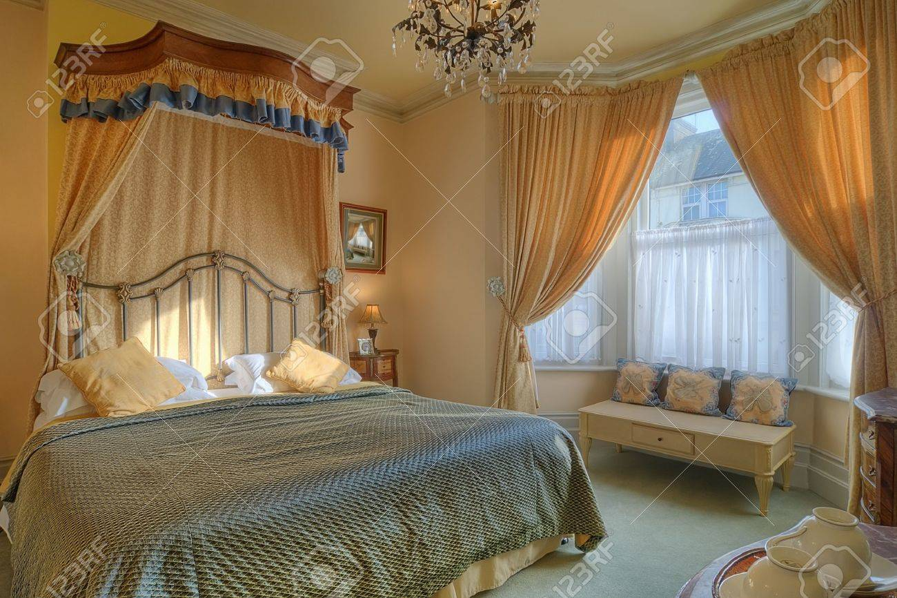 Beautiful Bedroom With A King Size Bed Stock Photo Picture And Royalty Free Image Image 9949719