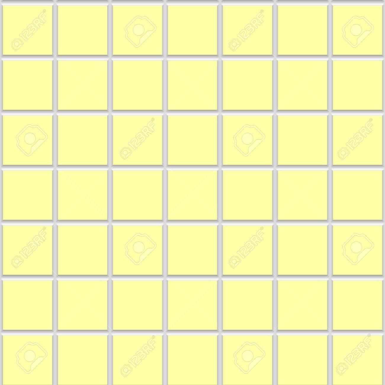yellow square seamless ceramic tiles texture
