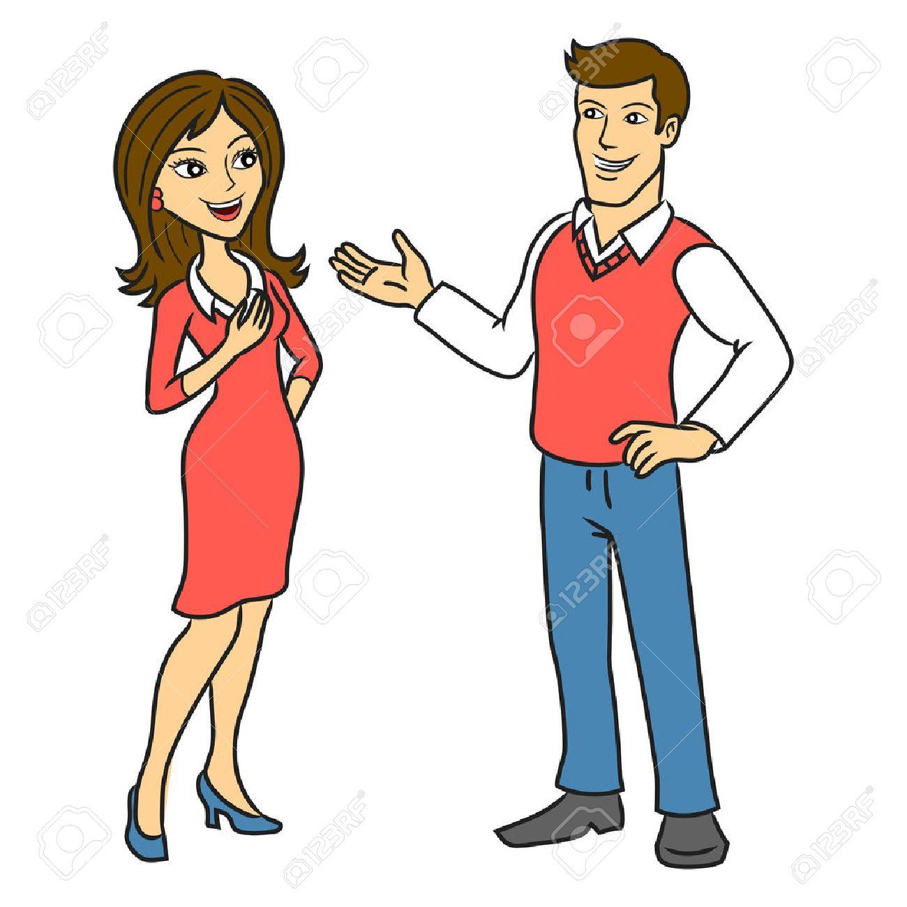 Resultado de imagen para pareja hablando dibujo