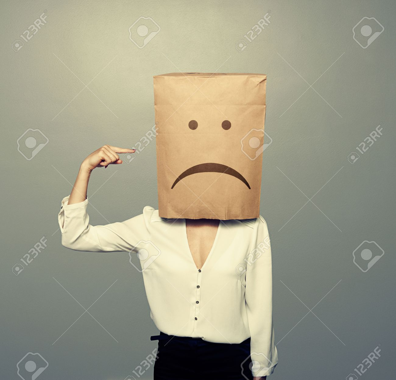 Image result for paper bag over head