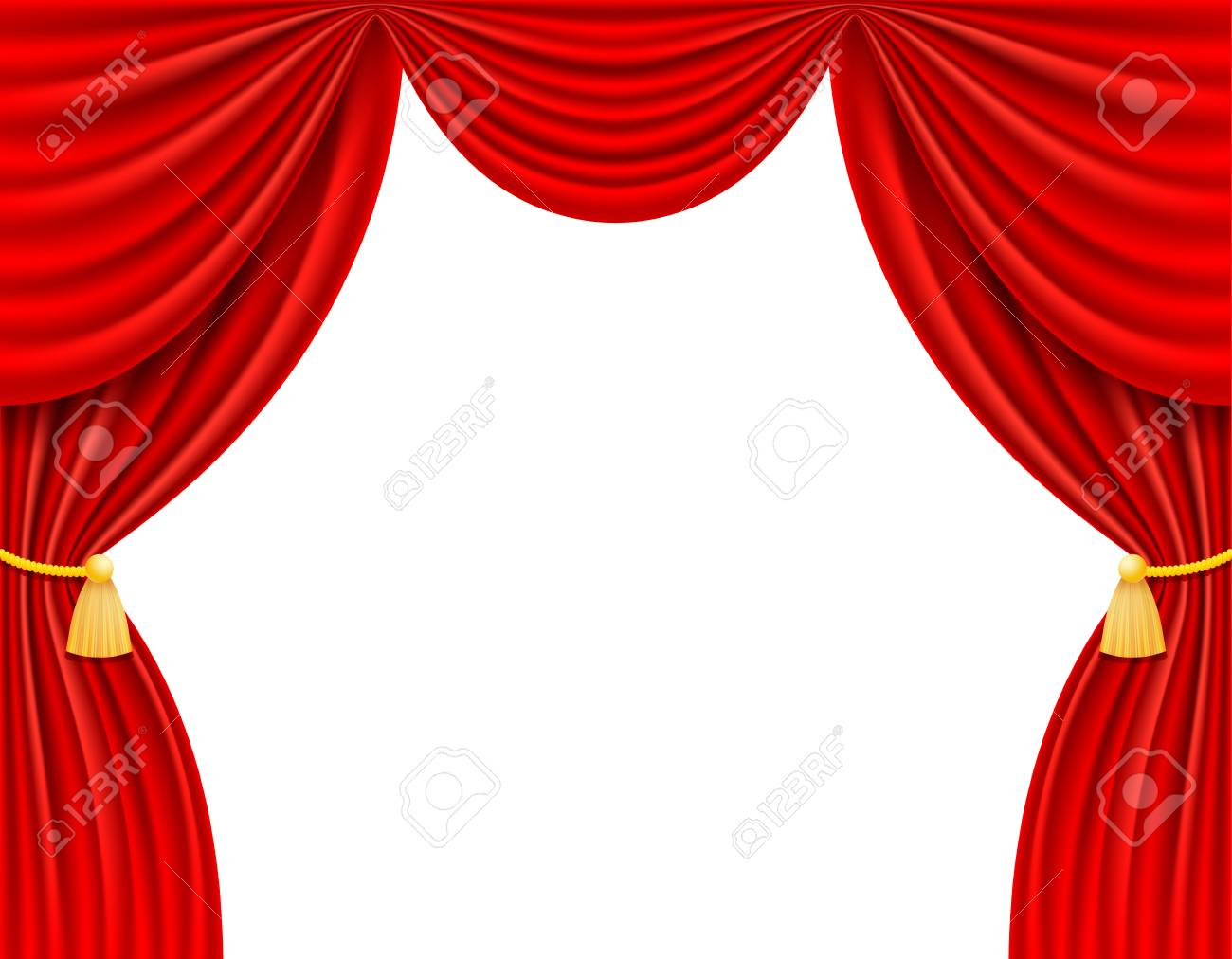rideau rouge rideau illustration isole sur fond blanc banque d images et photos libres de droits image 96182634