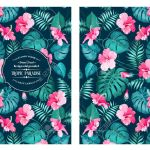 Tropical Flower Pattern On The Book Cover Design Blossom Flowers Royalty Free Cliparts Vectors And Stock Illustration Image 46535352