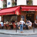 View Of Typical French Cafe Camille In The Quarter Marais The Stock Photo Picture And Royalty Free Image Image 106467470