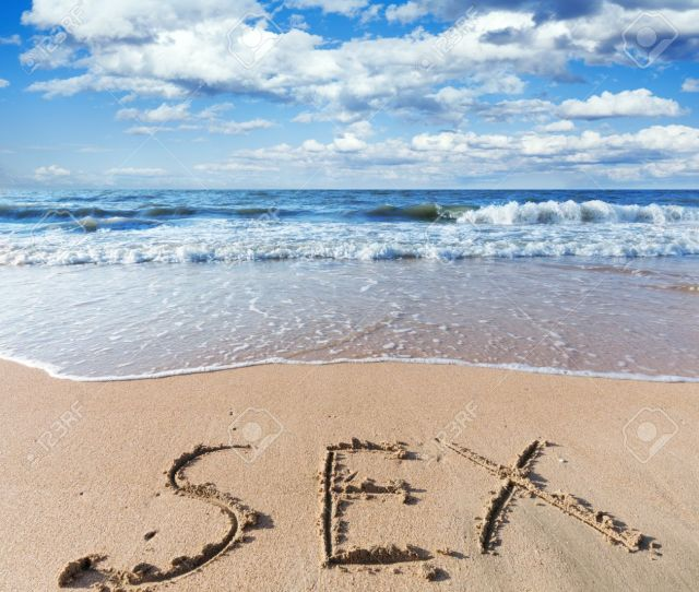Sea Beach With Sand Word Sex Stock Photo 21351348