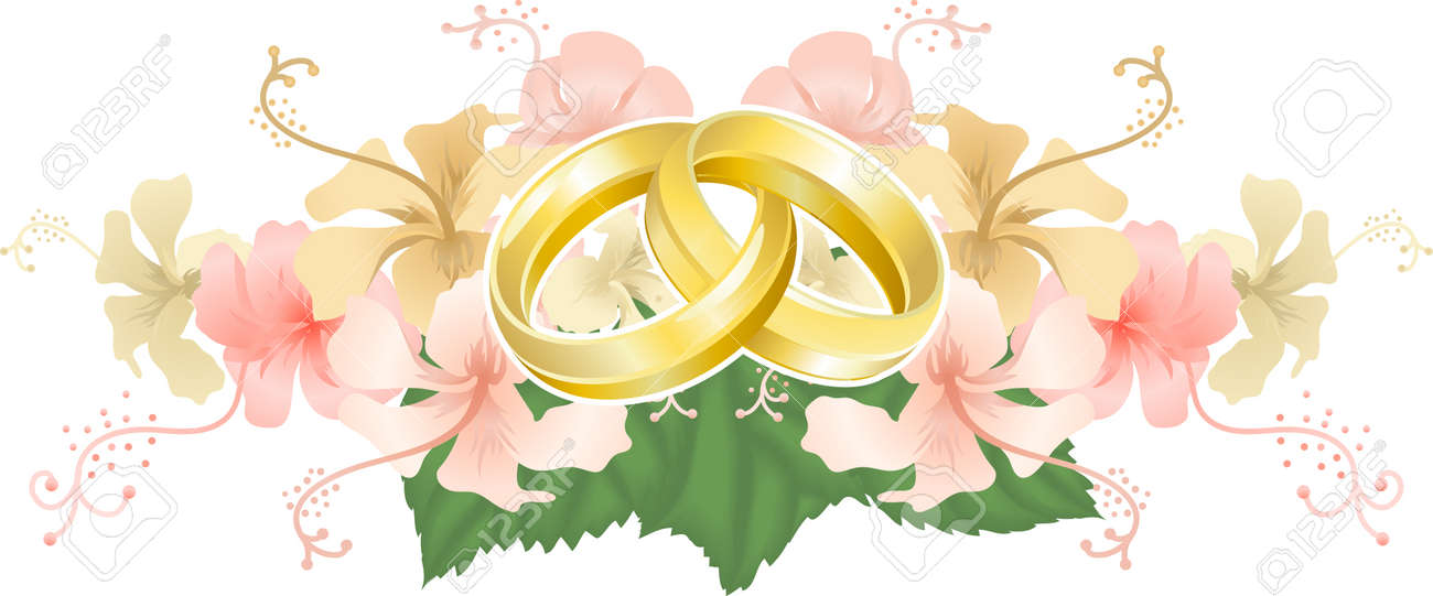Schone Hochzeitskarte Zur Hochzeit Die Besten Wunsche Ringe