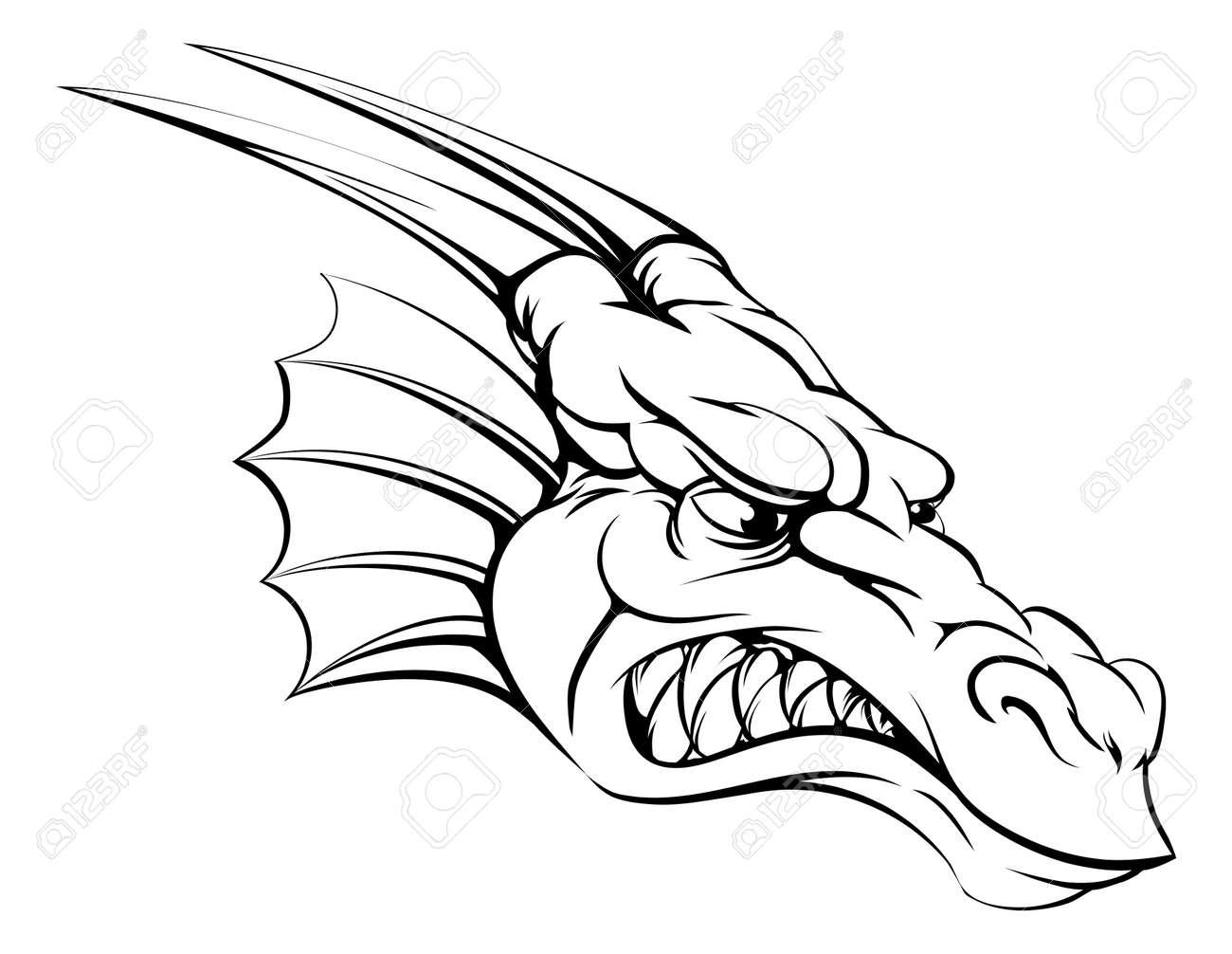 Dessin Tete De Dragon Gamboahinestrosa