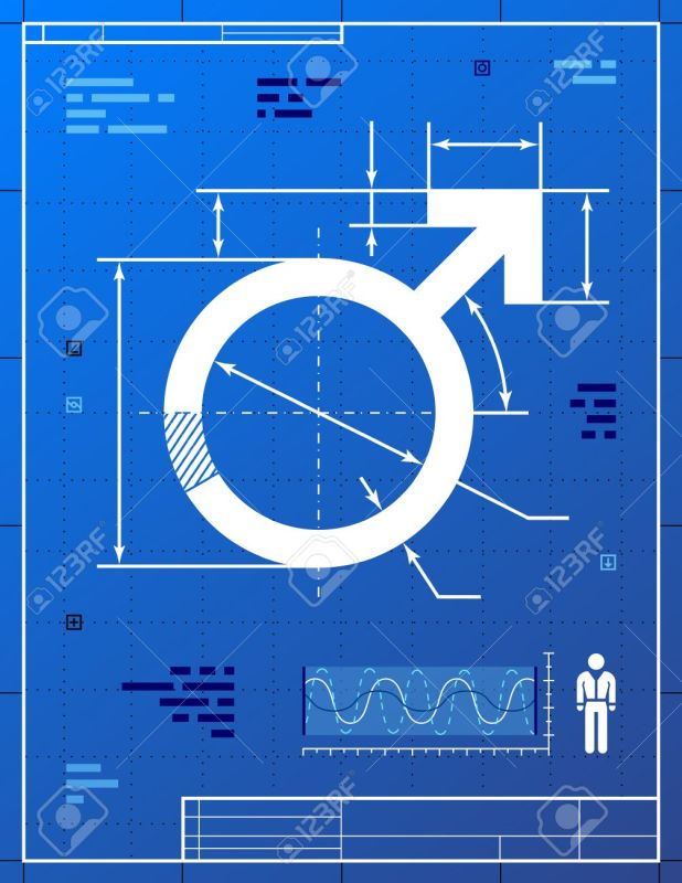 Image blueprint drafting shareimages male symbol like blueprint drawing stylized drafting of men malvernweather Image collections