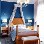 Design Of A Children S Bedroom Four Poster Bed Nightstands Stock Photo Picture And Royalty Free Image Image 150378687