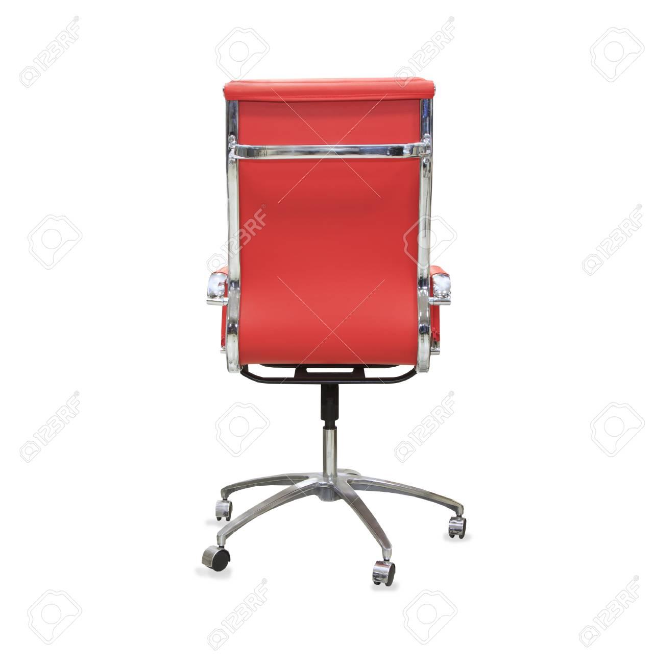 https fr 123rf com photo 64220002 vue de dos de la chaise de bureau moderne de cuir rouge isol c3 a9 html