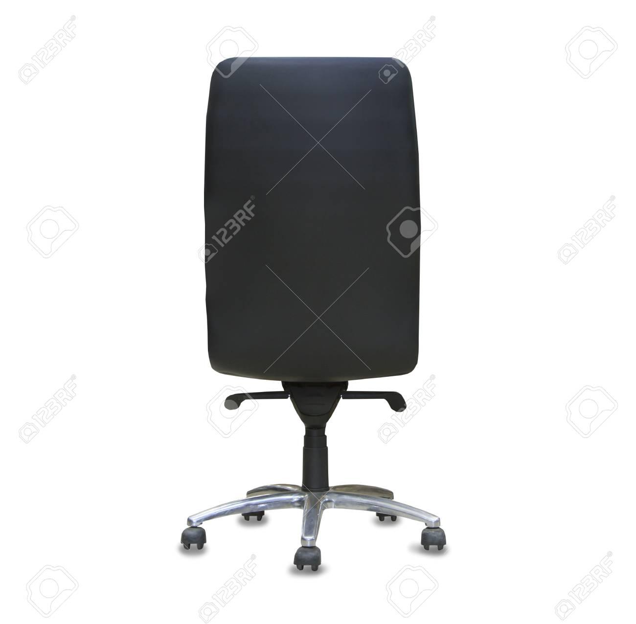 vue de dos de la chaise de bureau moderne de cuir noir isole banque d images et photos libres de droits image 71768300