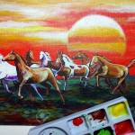 Art Painting Fine Art Oil Color Running Horse Lucky From Thailand Stock Photo Picture And Royalty Free Image Image 152088835