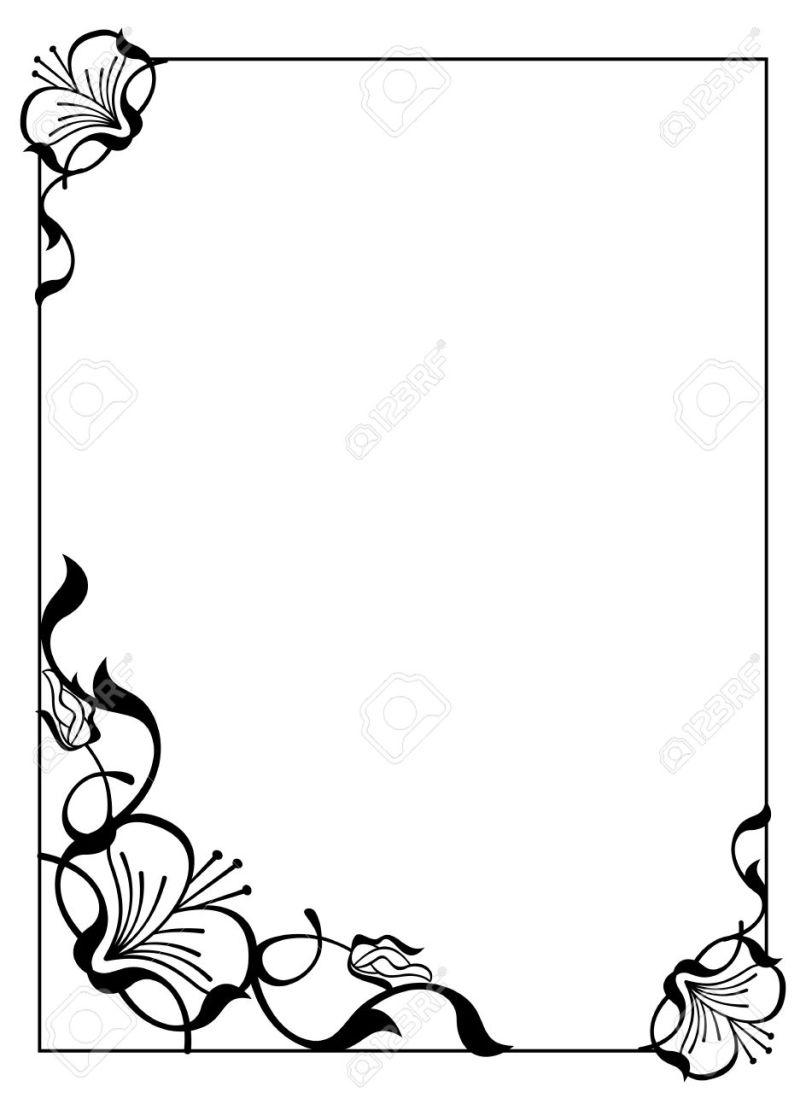 Simple Flower Frame Allframes5