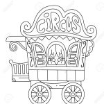 Illustration Of A Ready To Print Coloring Page Featuring A Circus Royalty Free Cliparts Vectors And Stock Illustration Image 34452631