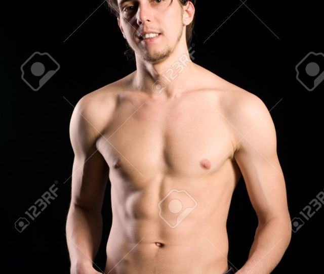 Stock Photo Young Handsome Man With Naked Torso
