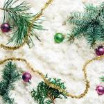 Flat Lay With Pine Tree Branches Christmas Toys And Festive Stock Photo Picture And Royalty Free Image Image 110517942