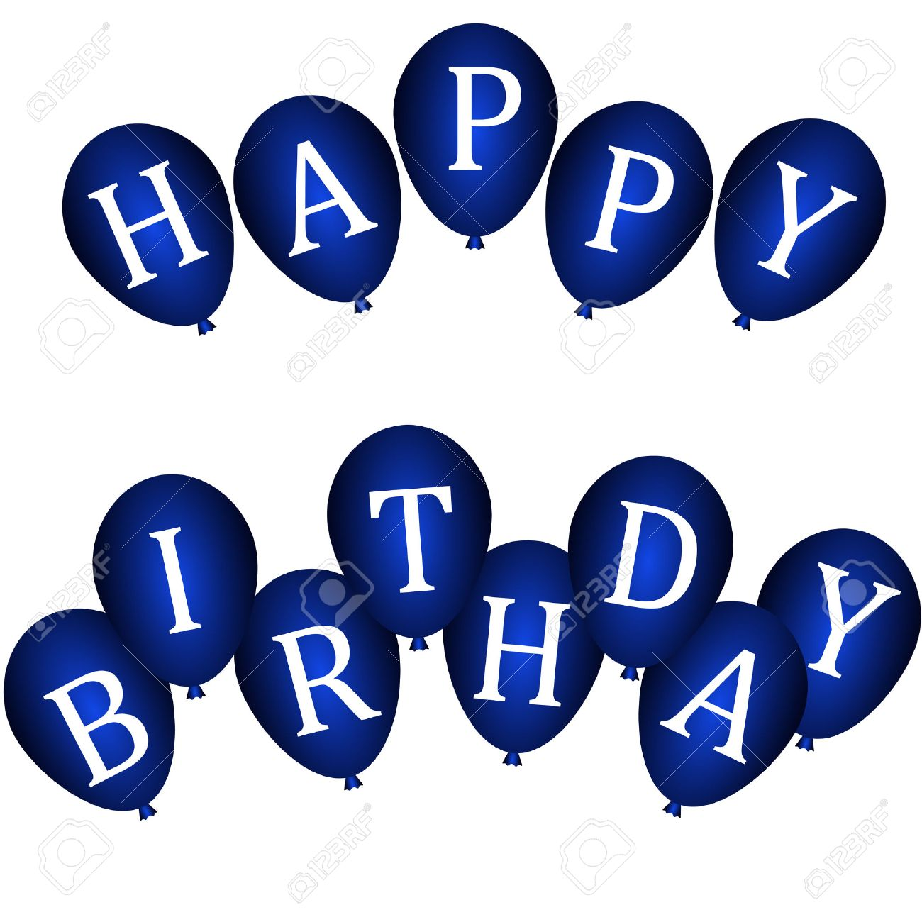 Happy Birthday Banners With Blue Balloons Royalty Free Cliparts Vectors And Stock Illustration Image 25166166