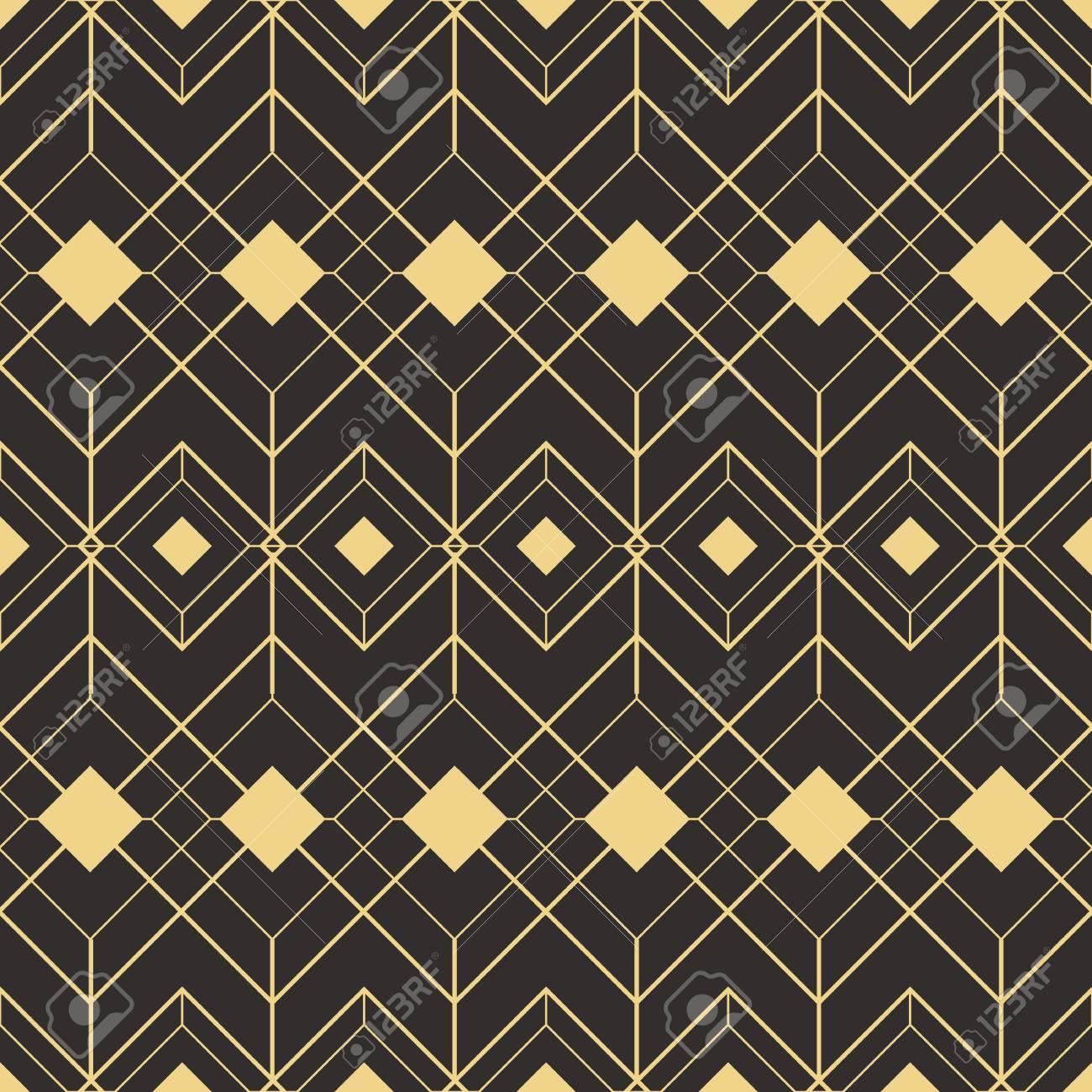 vector modern tiles pattern abstract art deco seamless monochrome