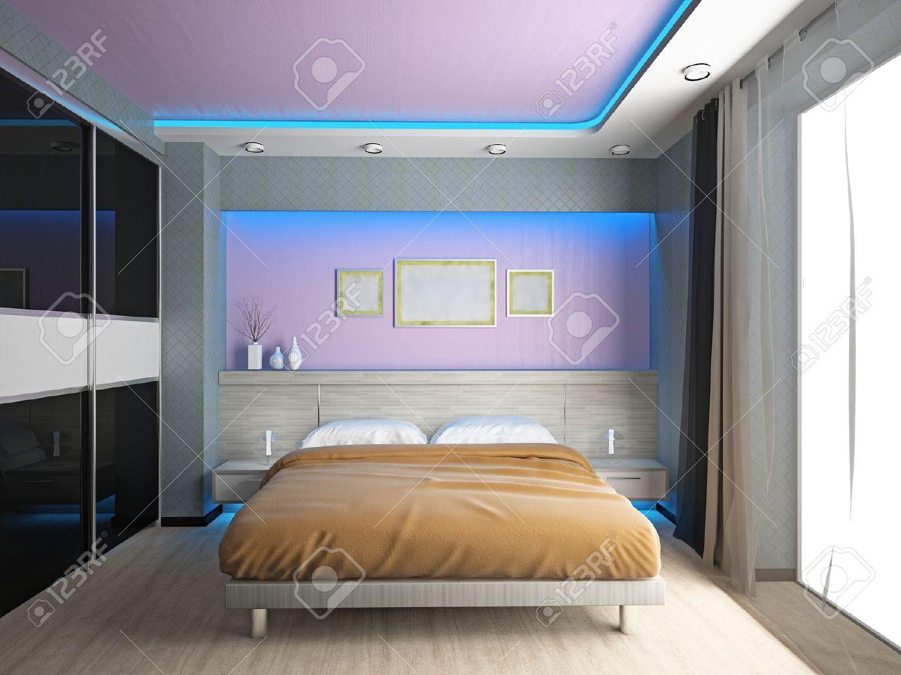 Modern Interior Of A 3d Chambre A Coucher Banque D Images Et Photos Libres De Droits Image 14897091
