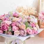 Close Up Beautiful Luxury Bouquet Of Mixed Flowers In Glass Vases Stock Photo Picture And Royalty Free Image Image 95956861
