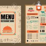 Restaurant Food Menu Design With Chalkboard Background Royalty Free Cliparts Vectors And Stock Illustration Image 68634393