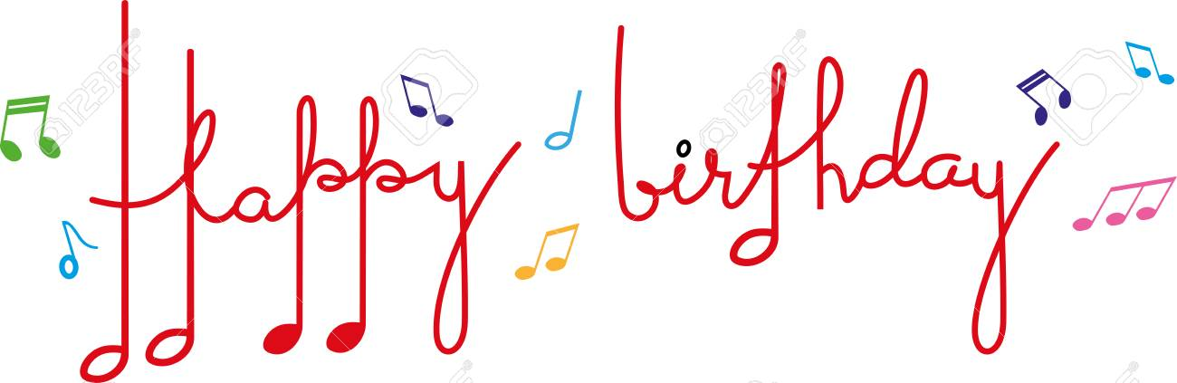 Happy Birthday In Musical Notes Royalty Free Cliparts Vectors And Stock Illustration Image 120759435
