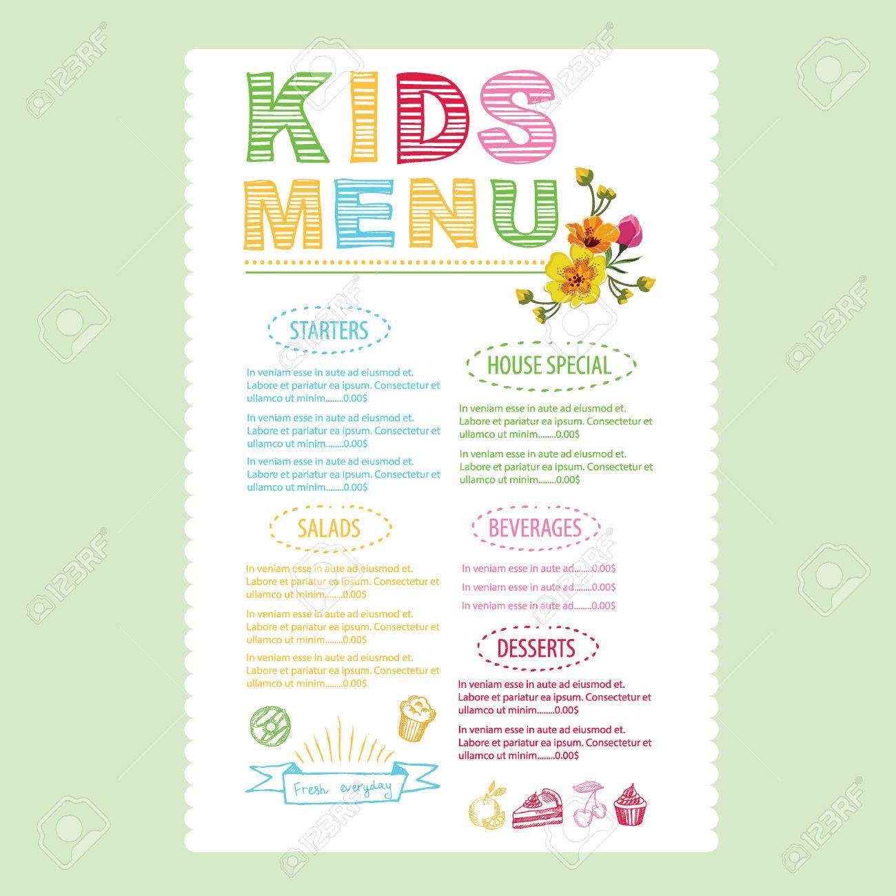 kids menu template 25 free psd eps documents download free cute – Free Kids Menu Templates