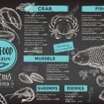 Seafood Restaurant Brochure Menu Design Royalty Free Cliparts Vectors And Stock Illustration Image 53222429