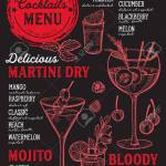 A Cocktail Bar Menu Vector Drinks Flyer For Restaurant And Cafe Royalty Free Cliparts Vectors And Stock Illustration Image 96573148