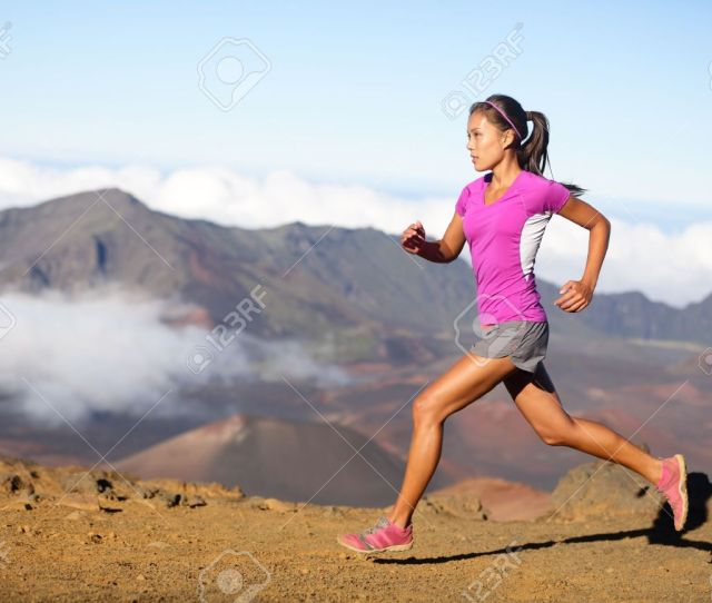 Woman Trail Runner Sprinting For Success Goals And Healthy Lifestyle In Amazing