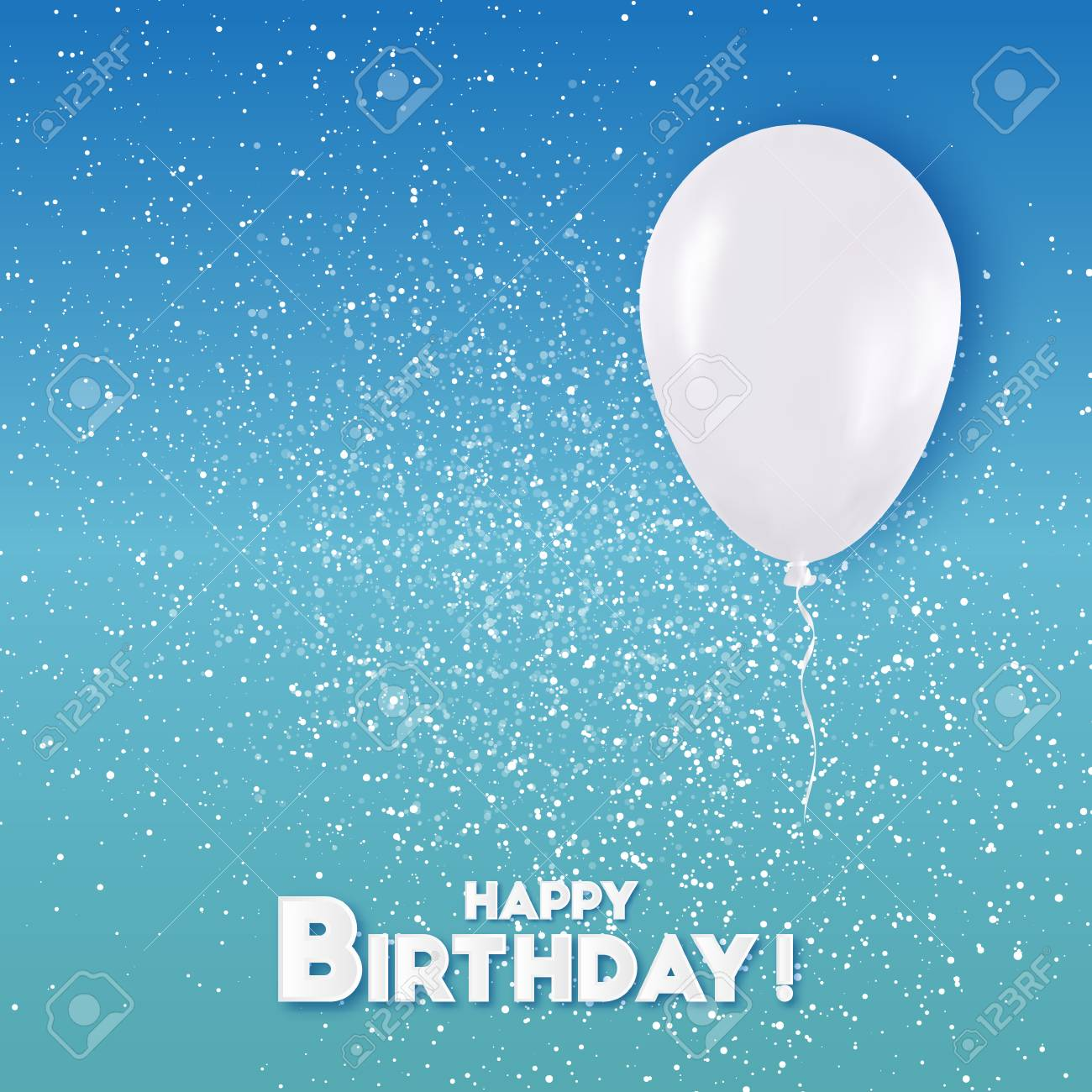 White Happy Birthday Balloons Flying For Party And Celebrations Royalty Free Cliparts Vectors And Stock Illustration Image 68403845