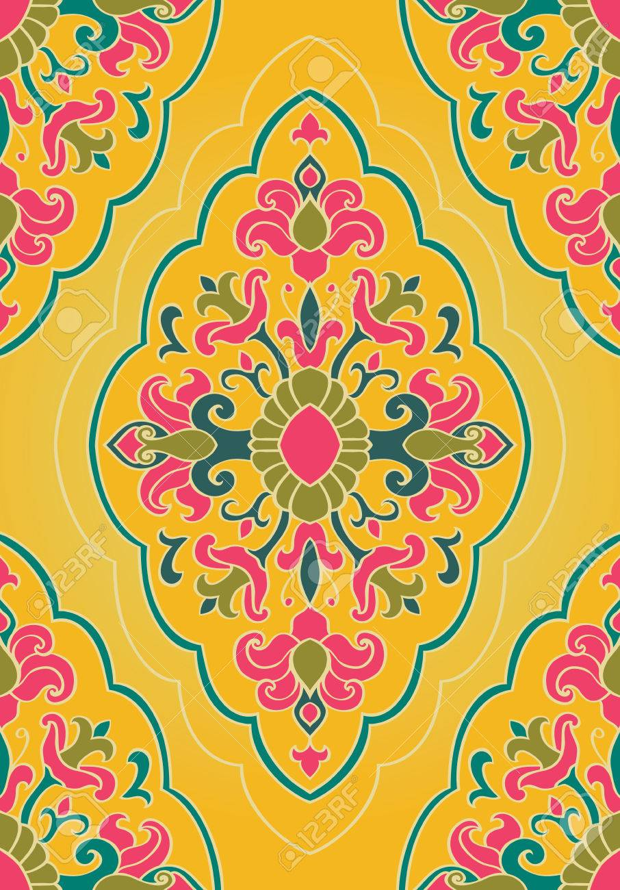 Bright Floral Ornament Templates For Carpets Shawl Wallpaper Royalty Free Cliparts Vectors And Stock Illustration Image 62275500