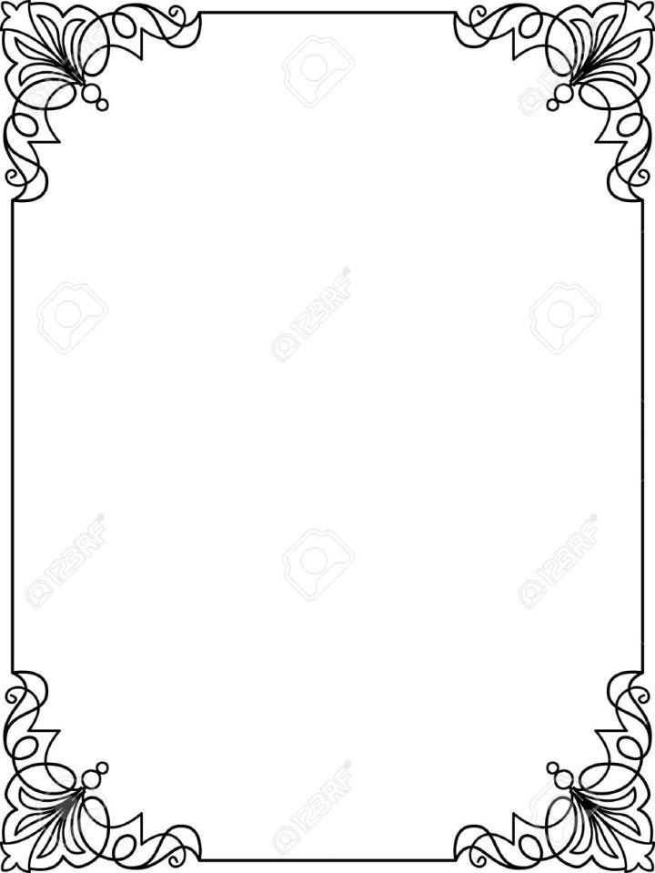 simple frame design. Simple Frame Border Design Lines Vector Stock 24306545 Simple Frame Design T