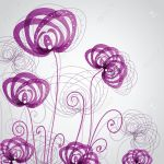 Abstract Violet Flowers Royalty Free Cliparts Vectors And Stock Illustration Image 21025210
