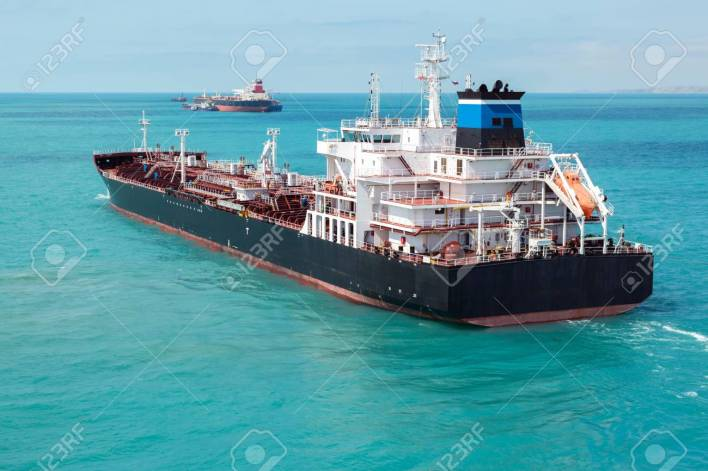 Oil Product Tanker Is Underway. Stock Photo, Picture And Royalty Free Image. Image 86870282.