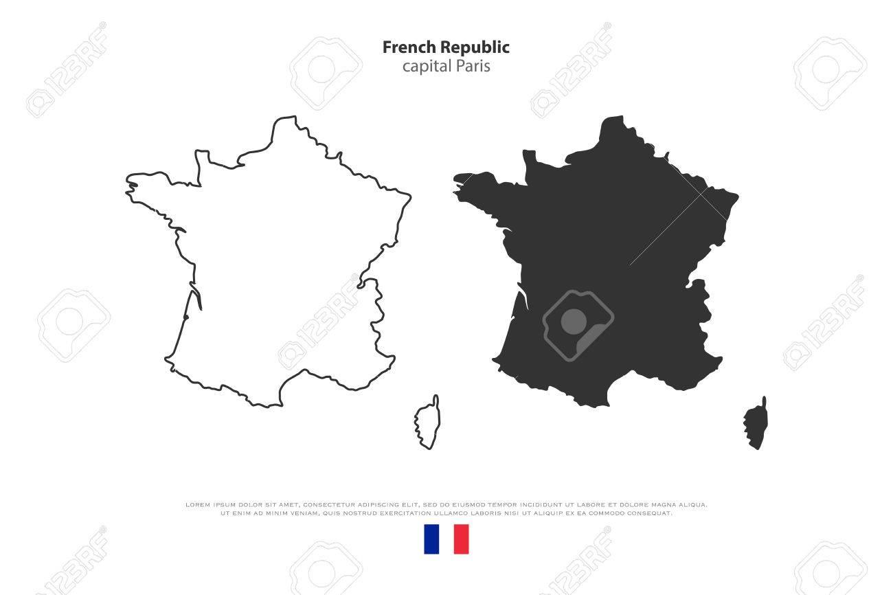 Advertisement france map outline vector Full