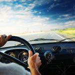 Driver S Hands On Steering Wheel Stock Photo Picture And Royalty Free Image Image 8581006