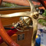 Old Vintage Car Steering Wheel With Wooden Hand Grip And Brass Stock Photo Picture And Royalty Free Image Image 18087882
