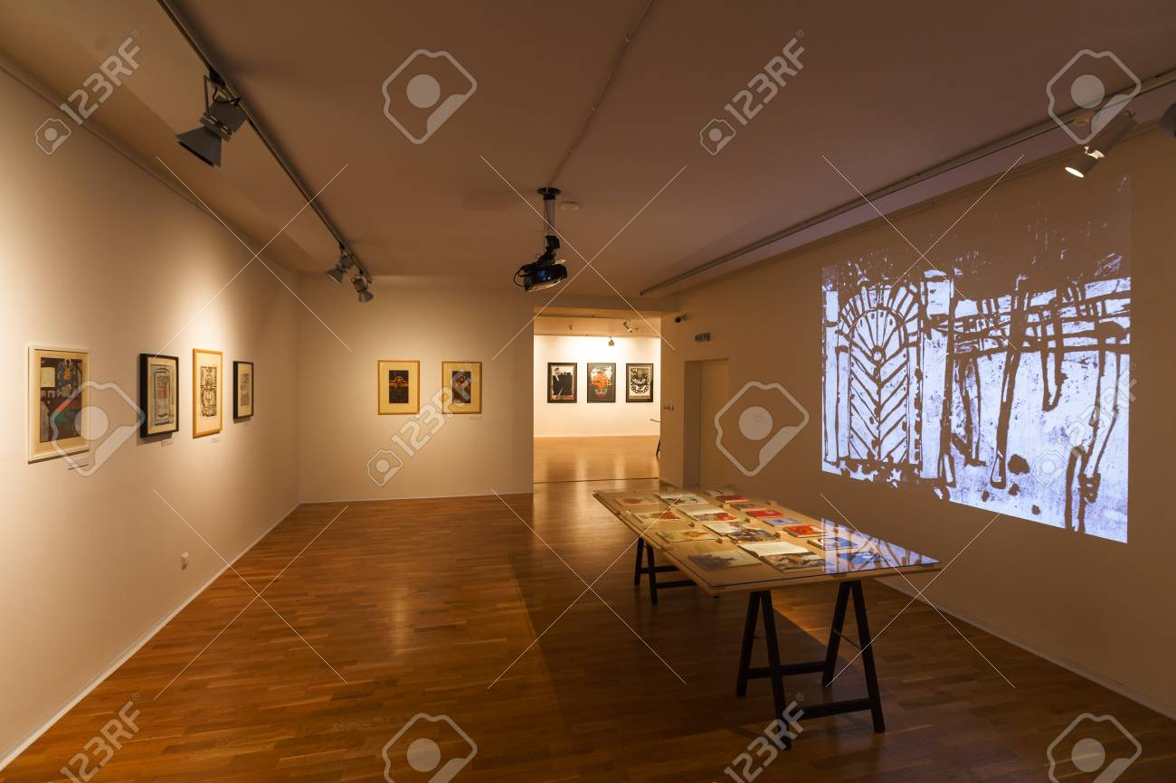 https www 123rf com photo 114452245 kosice slovakia august 12 2018 temporary exhibition of paintings in east slovak gallery in kosice html