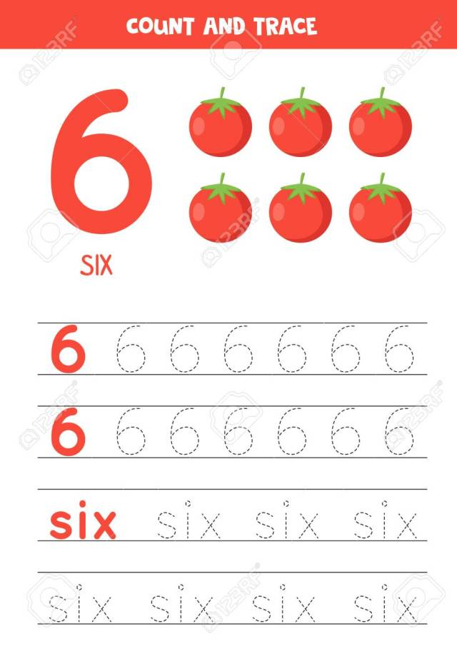 Numbers And Letters Tracing Practice. Writing Number 13 And The