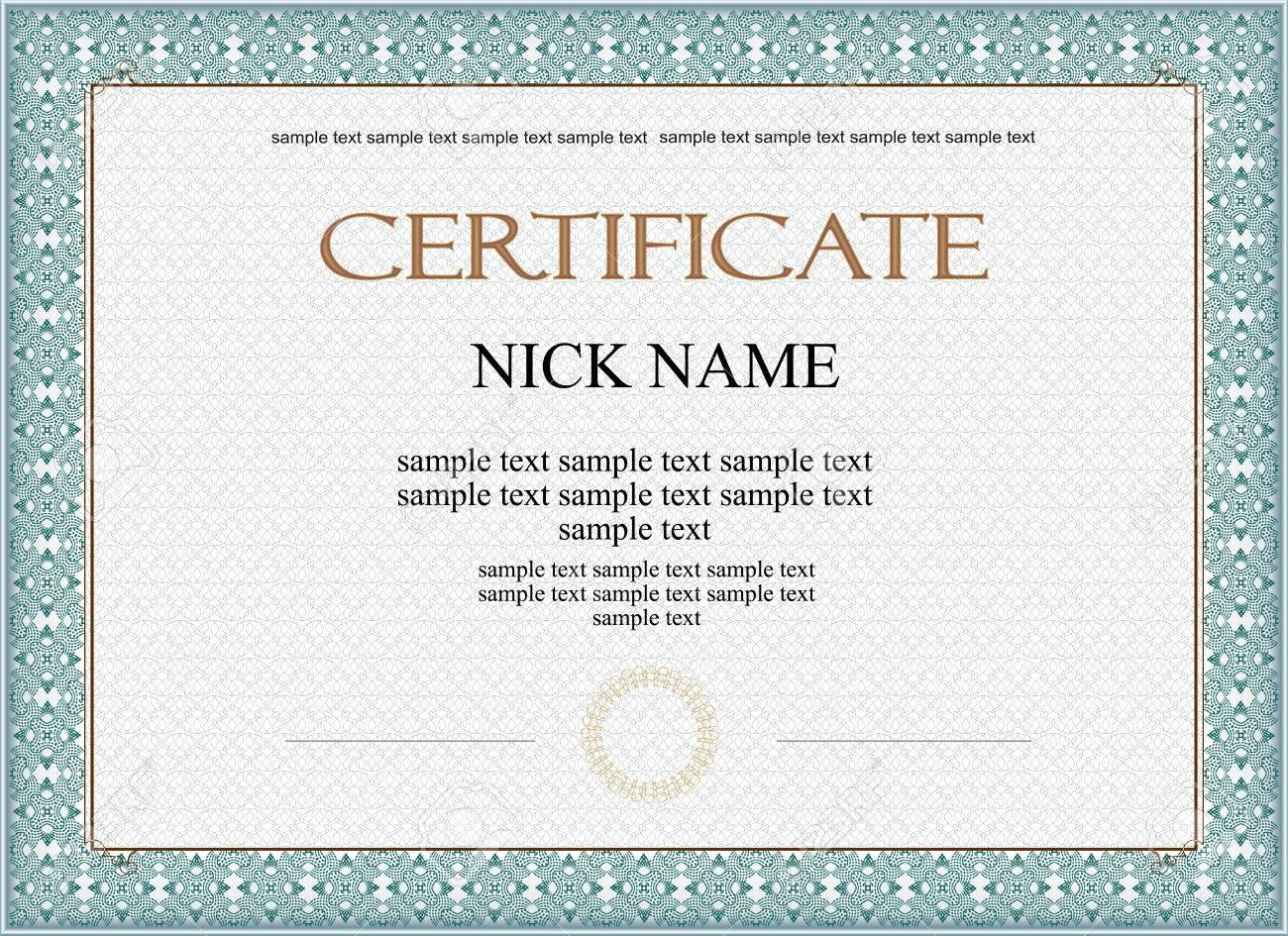 Certificat Diplome Pour Imprimer Clip Art Libres De Droits Vecteurs Et Illustration Image 32503960