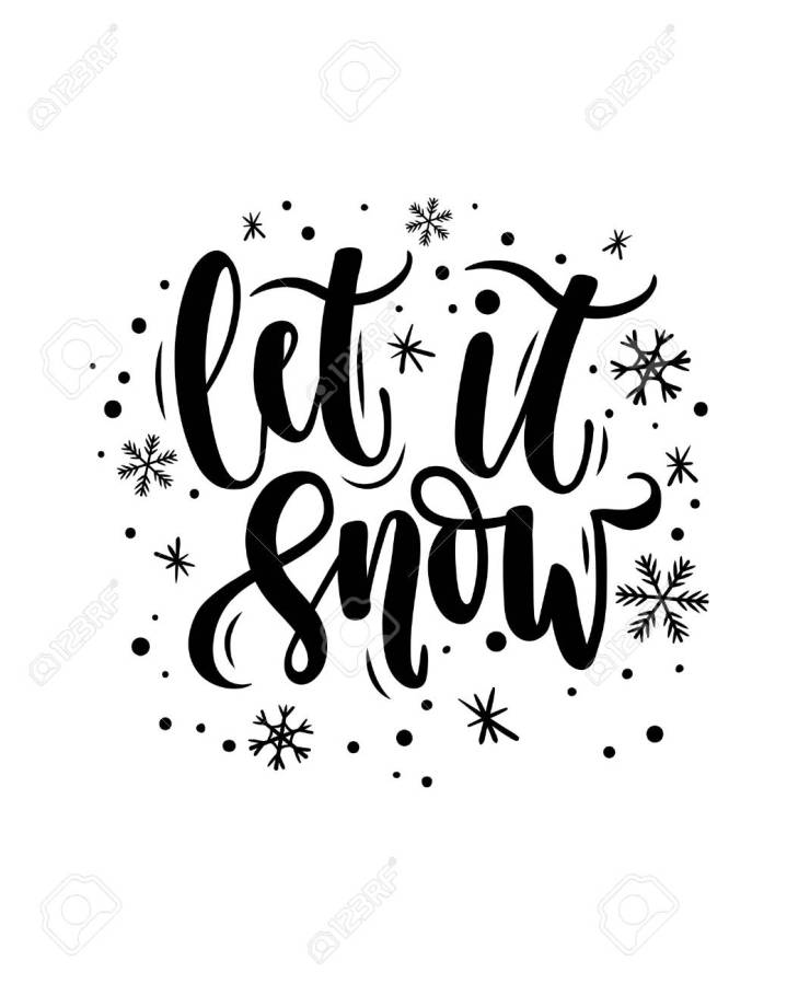 90703059 let it snow lettering card hand drawn inspirational winter quote with doodles winter greeting card m