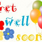 Get Well Soon Wishes With Balloons And Large Flowers On Yellow Stock Photo Picture And Royalty Free Image Image 28471575