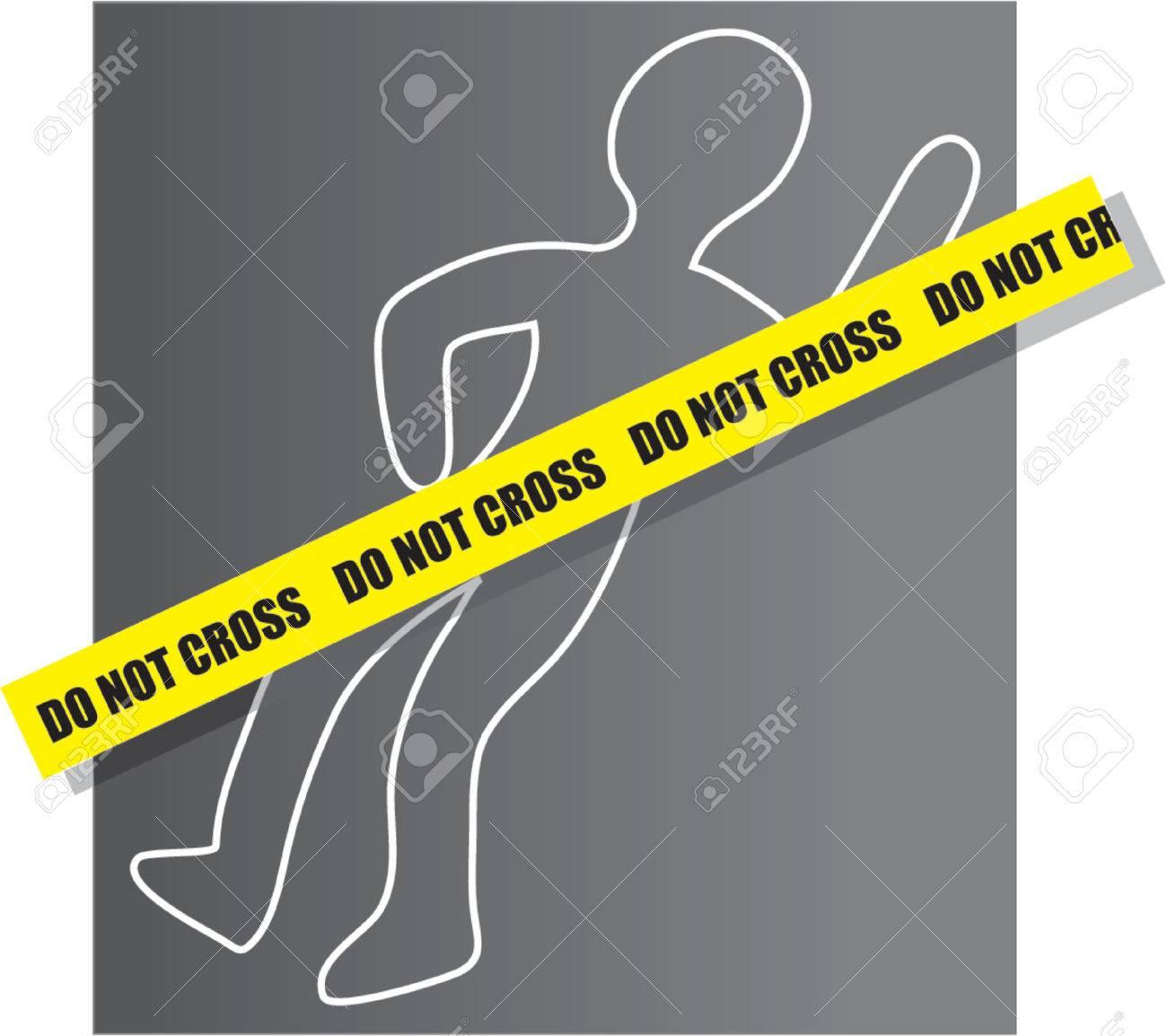 Resultado de imagen para escena de crimen dibujo