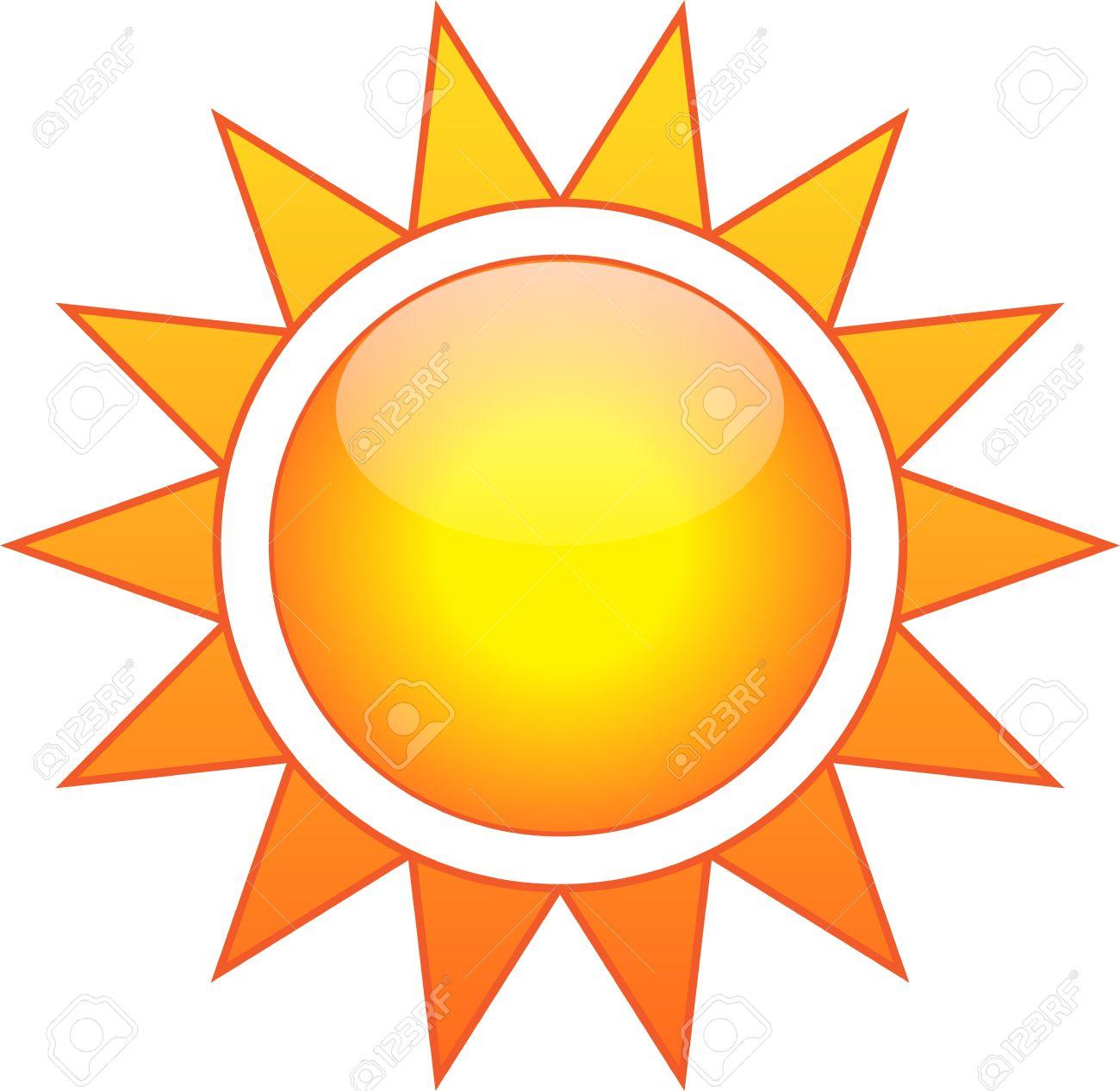 illustration du soleil isole sur fond blanc