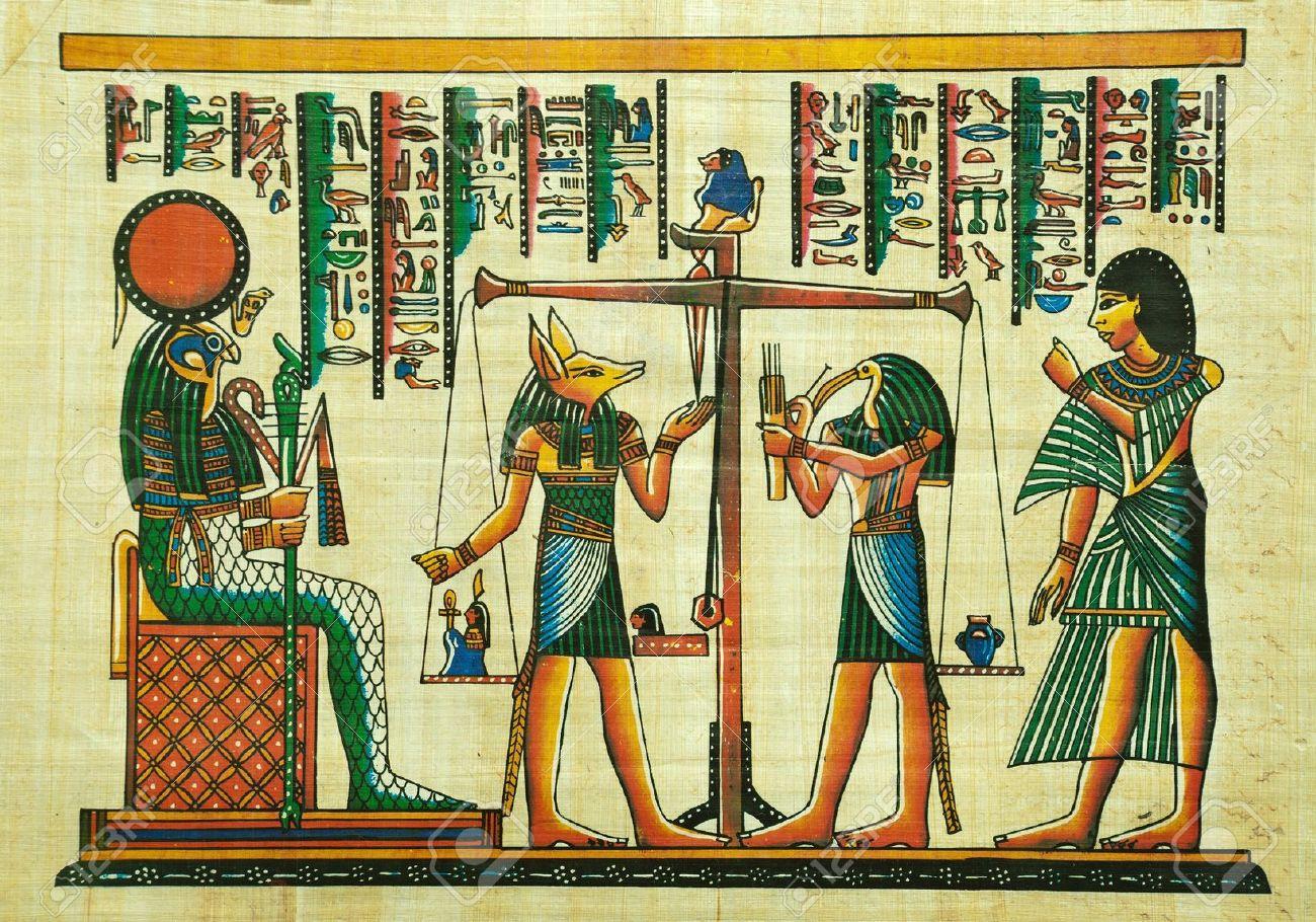 Malerei Agypten Grab Nakht Jagdbumerang Harpune Amazon De Kuche