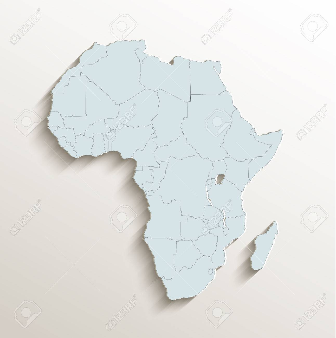 Africa Political Map White Blue 3D Raster Stock Photo  Picture And     Africa political map white blue 3D raster Stock Photo   62635726
