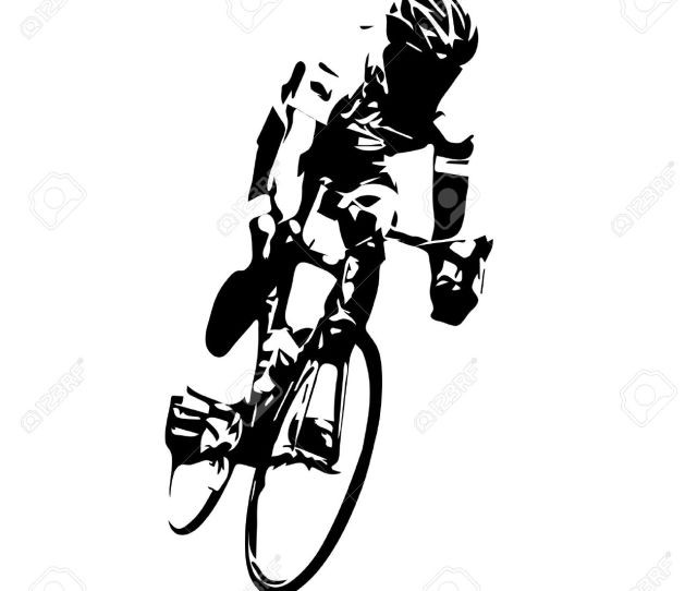 Cyclist Road Cycling Stock Vector 49608770