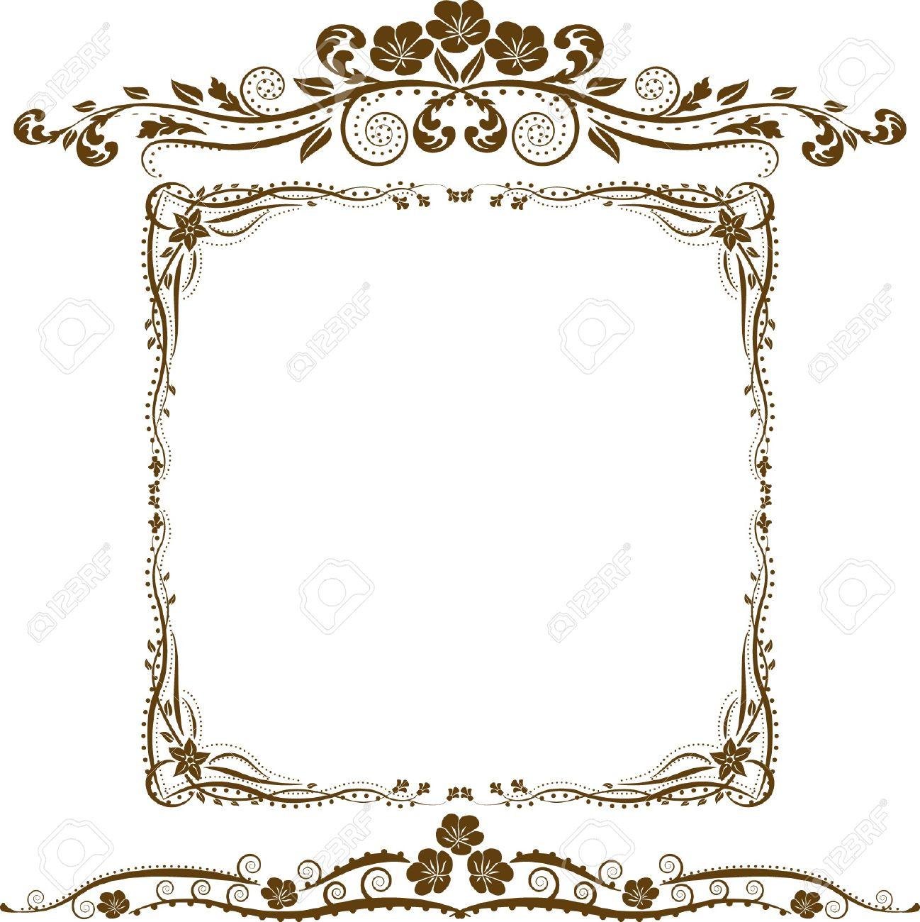 Bordure Decorative Et Ornements Clip Art Libres De Droits Vecteurs Et Illustration Image 11455243