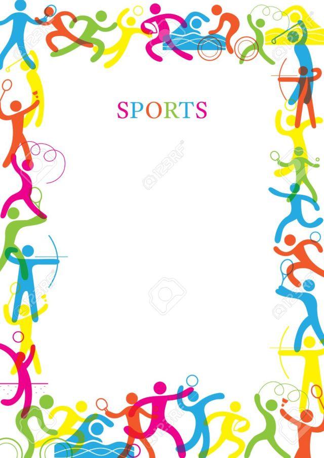 165c2b4b0762 Sports Colorful Frame Athletics Games Symbol Include